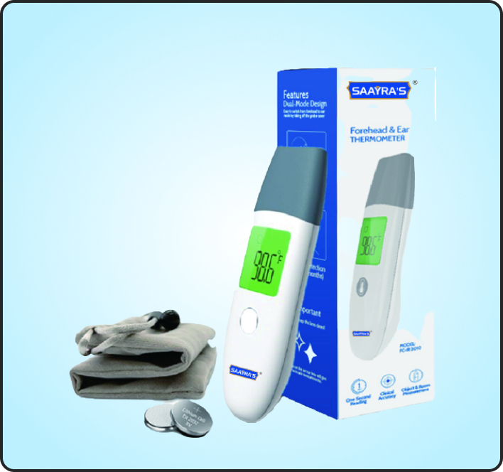 Mini Infrared Thermometer (Forehead & Ear) 2 in 1