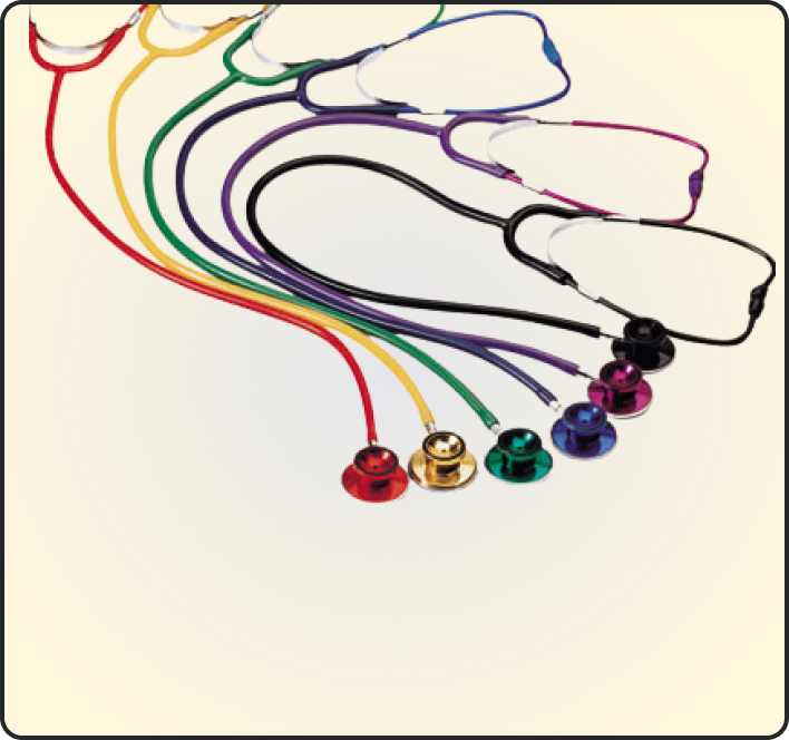 COLORED SINGLE HEAD STETHOSCOPE FOR ADULT I FOR CHILD EM-30A1