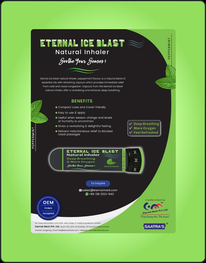 Eternal Ice Blast Natural Inhaler
