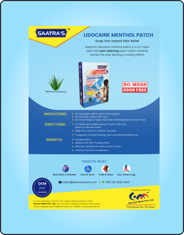 Lidocaine PATCH + Menthol