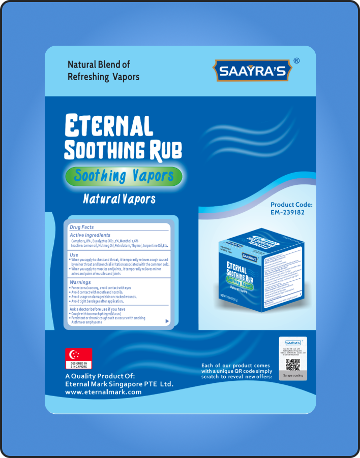 Eternal Soothing Rub Natural Vapors