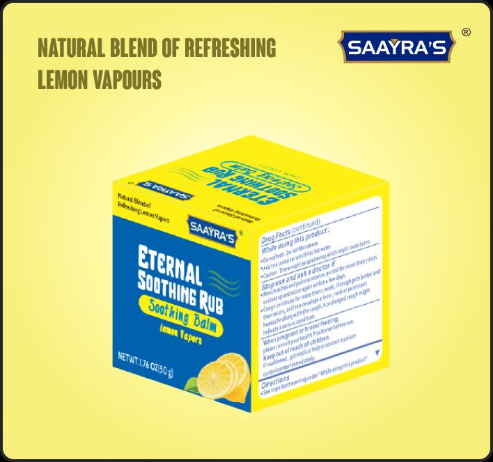 Eternal Soothing Rub with Lemon Vapors